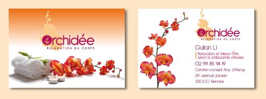 orchid e logo et d clinaisons awen studio. Black Bedroom Furniture Sets. Home Design Ideas