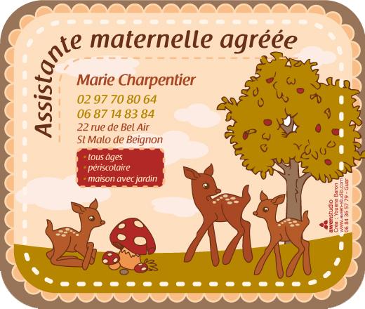 affichette illustr u00e9e pour une assistante maternelle  u00ab awen